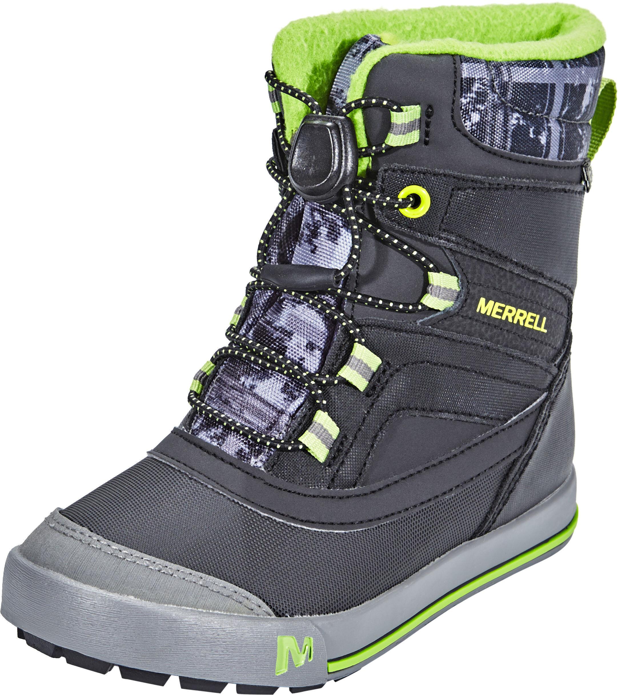 c483f9271c Merrell Snow Bank 2.0 Waterproof Boots Kids black/grey/green